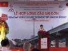 Construction event - Casted closure segment of Sai Gon Bridge