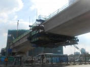 Casted closure segment of Van Thanh Bridge